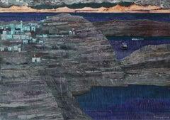 Horizon - XXI Century, Contemporary Acrylic & Mixed media Landscape Painting
