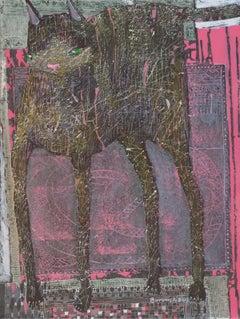 Jaipur XXXVII - XXI century, Acrylic and mixed media painting, Vivid