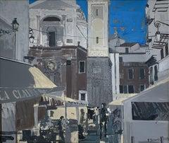 Nice II - XXI Century, Contemporary Acrylic Painting, Landscape, City view