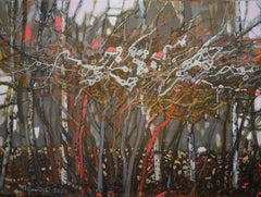 October- XXI Century, Contemporary Flora  Acrylic Painting