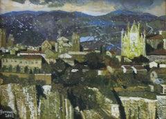 Orvieto - XXI century, Figurative painting, Landscape, Town scene