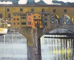 Ponte Vecchio. Evening - XXI Century, Contemporary Painting, Landscape, Italy