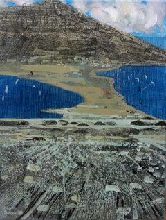 Rodos- Prasonisi II - XXI century, Landscape, Acrylic and mixed media painting
