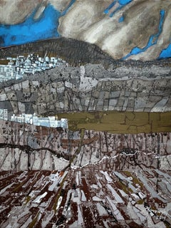 Small geology of an island - XXI Century Contemporary Acrylic Painting Landscape