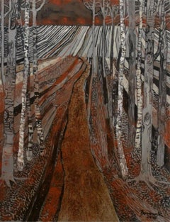 So far away... - XXI century, Landscape, Earth and brown tones, Mixed media