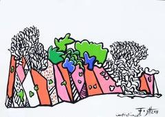 Castiglioncello - Polish Master Of Art Abstract Landscape, Colorful, Minimalist