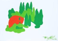Tuscany - Polish Master Of Art Abstract Landscape, Colorful, Minimalist