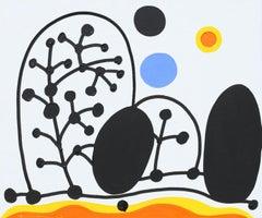Winter in Kuraszewo - Polish Master Of Art Abstract Landscape, Minimalist
