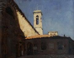 Volterra motif 2 - 21 century, Oil painting, Landscape, Small scale