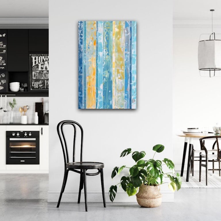 Andrzej Michael Karwacki EQ Redefined, 1600-10-2 Original Abstract Art Mixed Media – Acrylic Paint and Resin on Board Artwork Size: H 91cm x W 61cm x D 5cm Sold Unframed (Please note that in situ images are purely an indication of how a piece may