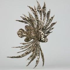 Devil Firefish- bronze sculpture aquarium ocean Modern Contemporary sea animal
