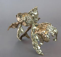 Goldfish - bronze sculpture limited edition Modern Contemporary wildlife Art