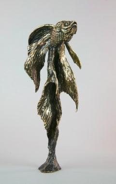 Goldfish II - bronze sculpture limited edition modern contemporary art