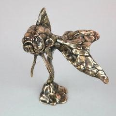 Goldfish III - bronze sculpture figurative limited edition modern contemporary