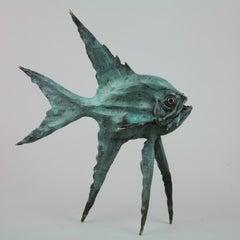Jack Fish - bronze sculpture surrealism ocean sea Modern Contemporary