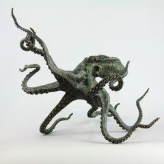 Octopus - bronze sculpture- limited edition- Modern- Contemporary
