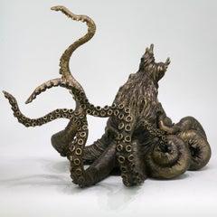 Octopus II - bronze sculpture limited edition Contemporary sea ocean animal