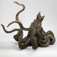 Octopus II - bronze sculpture- limited edition- Modern Contemporary sea animal