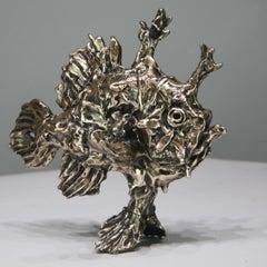 Sargassum Fish - bronze sculpture limited edition 21st Century Aquarium