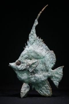 Sea Lion Fish - bronze wildlife animal sculpture limited edition contemporary