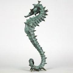 Seahorse II - bronze sea life sculpture limited edition Modern Contemporary