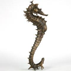 Seahorse II - bronze sea unusual sculpture limited edition Modern Contemporary