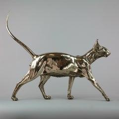 Sphynx Cat II - bronze sculpture limited edition Modern Contemporary animal Art