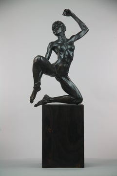 Suspended in Space - bronze sculpture limited edition Modern Contemporary