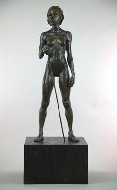 Woman Warrior of Kau - bronze sculpture limited edition Modern Contemporary
