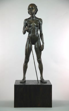 Woman Warrior of Kau - female sculpture limited edition Modern Contemporary