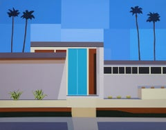 Andy Burgess Palm Springs House III, 2017 Signed, dated recto Acrylic on Canvas