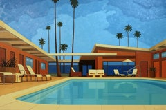 Andy Burgess, Twin Palms, Palm Springs Hotel, Oil on Canvas