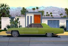 """Green Car, Palm Springs"""