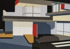 Modernist and mid-century architecture - Schindler House, Relief Print