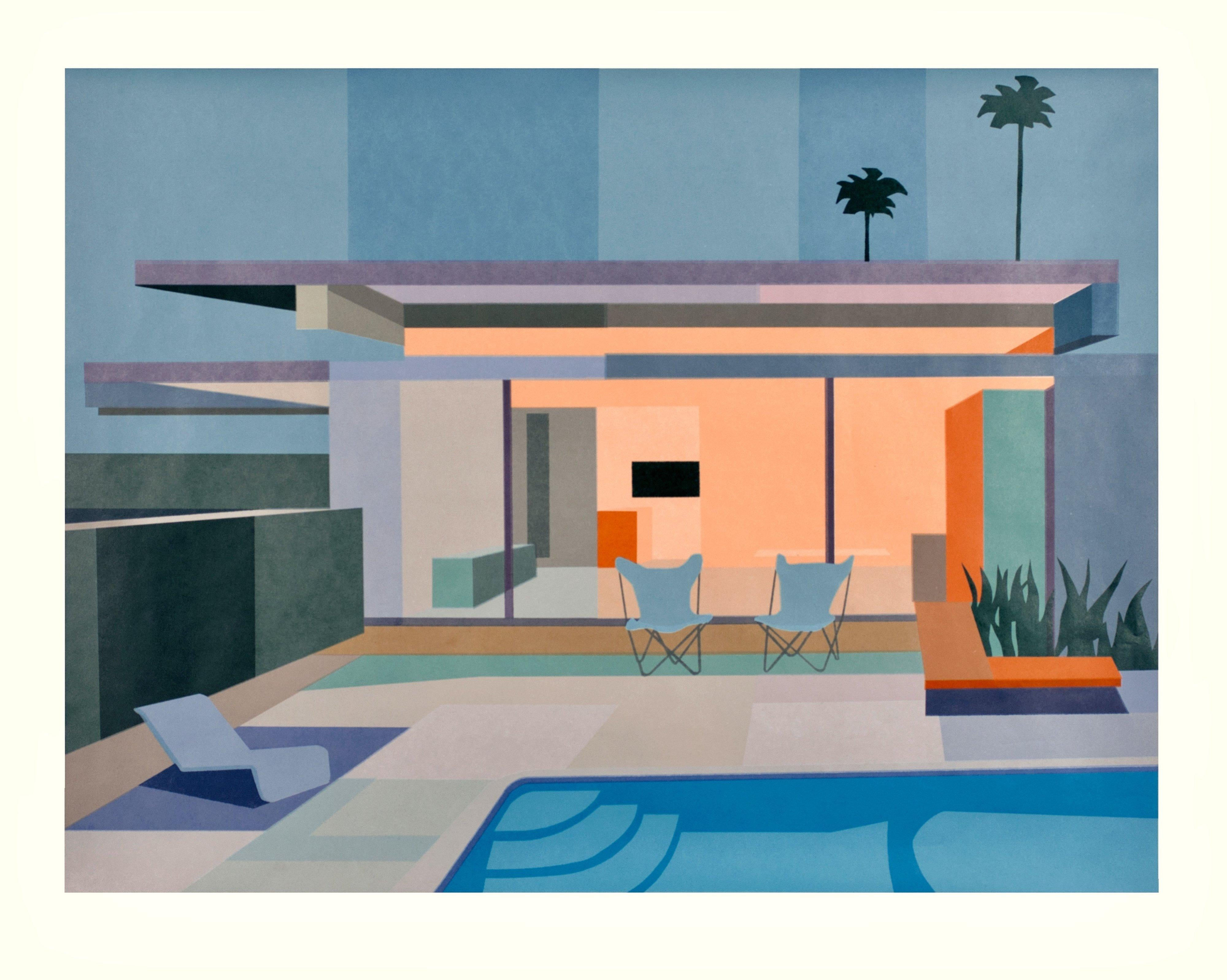 Modernist and mid-century architecture - Wexler House, Lithography