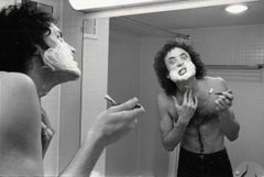 Kevin Dubrow Shaving in Mirror Vintage Original Photograph
