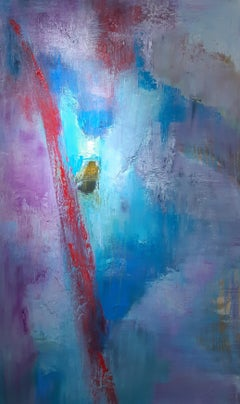 Earth's Lost Remains 1.  Abstract Expressionist Oil Painting