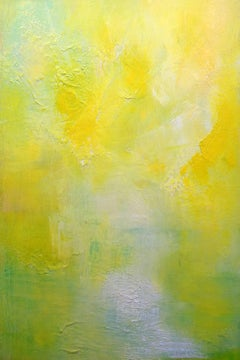 Landscape In Yellow, Contemporary Abstract Oil Painting