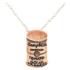 """Andy Soup"" Carved Cameo Pendant Necklace by Katherine Wallach"