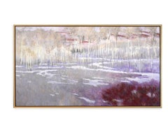 Fade Red (winter landscape, snow, aspen trees, red)