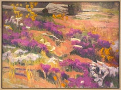 Off Trail (mountain wildflowers, desertscape, purple, gold, salmon, white)