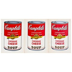 Andy Warhol 3 Campbell's Soup Cans Announcements Castelli-Whitney