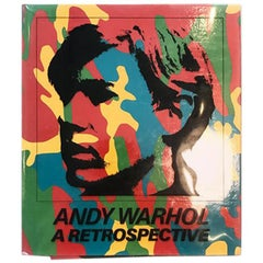 """Andy Warhol a Retrospective"" 1989 MoMA Exhibition Collector's Art Book"