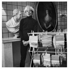 Andy Warhol and His Corsets at the Fourth Factory, NY, 1986, by Jonathan Becker