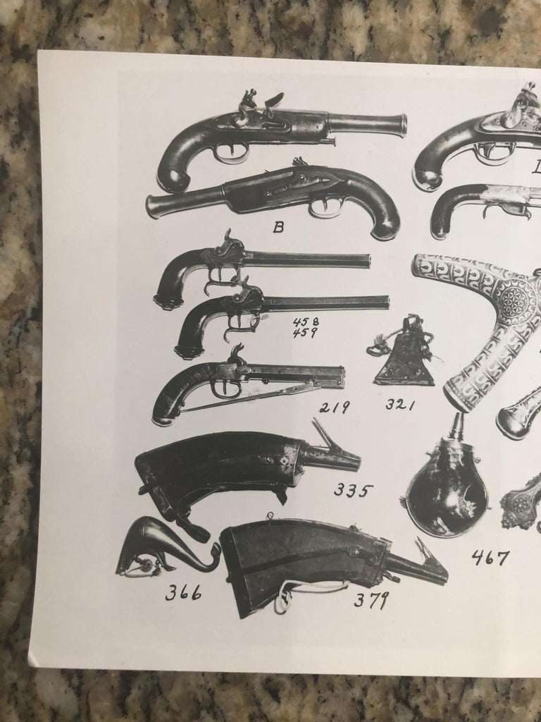 Mid-Century Modern Andy Warhol Antique Guns Photograph For Sale