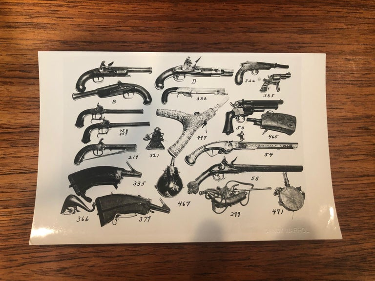 20th Century Andy Warhol Antique Guns Photograph For Sale