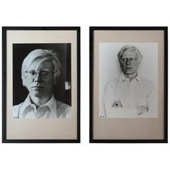 Andy Warhol Black and White Photograph Portraits