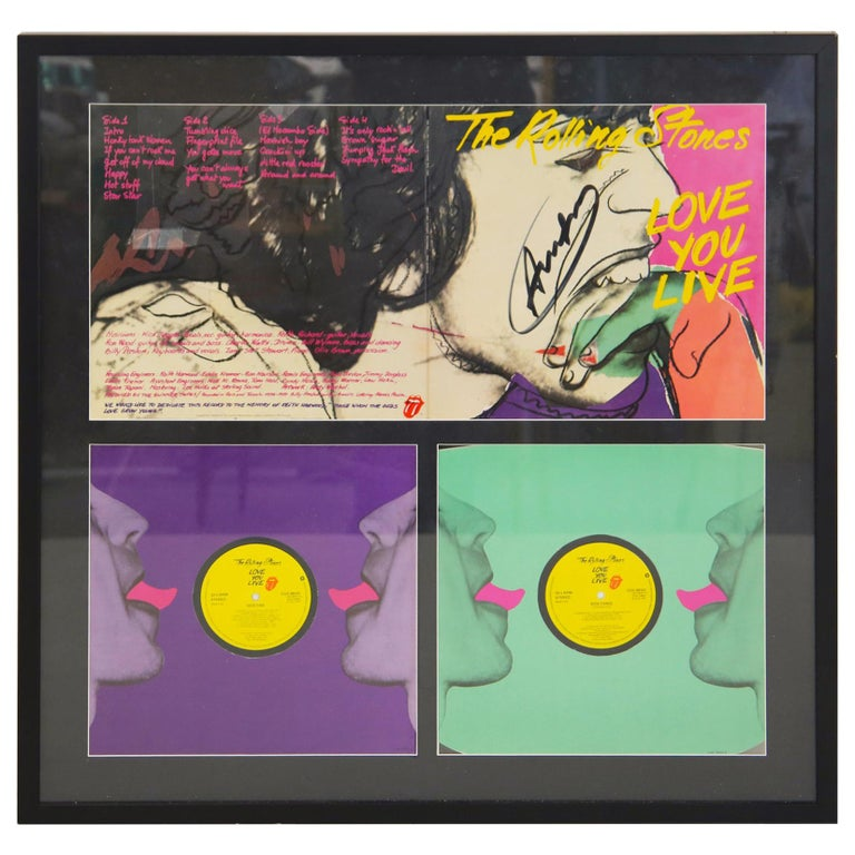 Andy Warhol Cover Album for the Rolling Stone from 1977, Original Signature