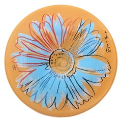 Andy Warhol Daisy Glass Pair Of Plates by Studio Line Rosenthal