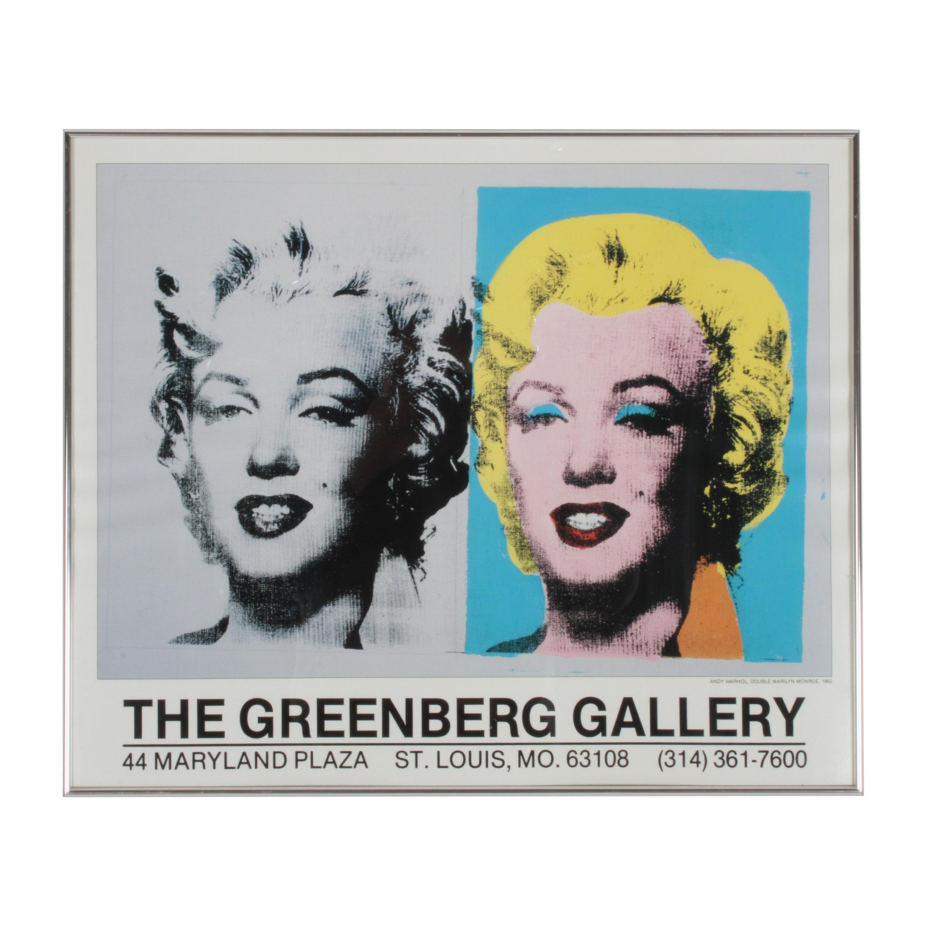 Andy Warhol Double Marilyn Poster, Greenberg Gallery